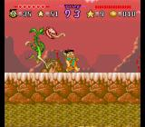 The Flintstones: The Treasure of Sierra Madrock SNES Boss-fight - race against a large plant