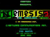 Nemesis the Warlock ZX Spectrum Loading screen
