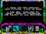 Nemesis the Warlock ZX Spectrum Game over