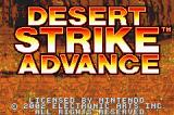 Desert Strike: Return to the Gulf Game Boy Advance Title Screen