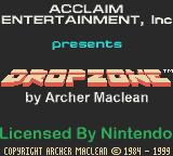 Dropzone Game Boy Color I suppose this is the splash screen