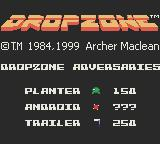 Dropzone Game Boy Color Your adversaries