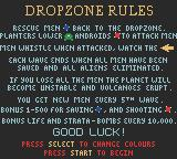Dropzone Game Boy Color The rules explained