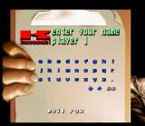 Kawasaki Superbike Challenge SNES Name entry.
