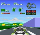 Kawasaki Superbike Challenge SNES Starting the race.