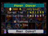 Mischief Makers Nintendo 64 The end of level shows you your rank, current time, and previous best time