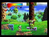 Mischief Makers Nintendo 64 Certain balls are on springs, and can be pushed down for a super jump