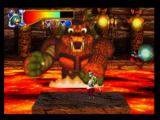 Mischief Makers Nintendo 64 Marina can grab this boss' fists...