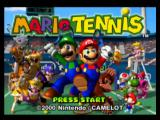 Mario Tennis Nintendo 64 Title screen
