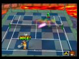 Mario Tennis Nintendo 64 Hit the rainbow boxes to score a bonus powerup