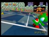 Mario Tennis Nintendo 64 The tilting of the court can affect the outcome of the shot