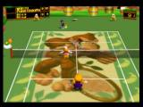 Mario Tennis Nintendo 64 Alex returns the shot