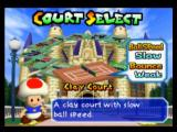 Mario Tennis Nintendo 64 Court Select - Some of these are unlocked after transferring GB data across