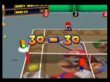 Mario Tennis Nintendo 64 The score is tied!