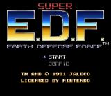 Earth Defense Force SNES Title screen / Main menu.