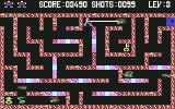 Lady Tut Commodore 64 Shooting an enemy