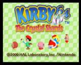 Kirby 64: The Crystal Shards Nintendo 64 Title Screen