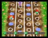 Kirby 64: The Crystal Shards Nintendo 64 You must hop over obstacles by using A to jump one space or B to jump two spaces
