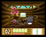Kirby 64: The Crystal Shards Nintendo 64 Kirby tries to suck in the opponent, but he's way too big!