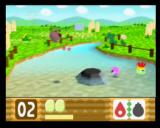 Kirby 64: The Crystal Shards Nintendo 64 The black obstacle in the water can be destroyed with any Bomb powerup