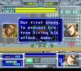 Battle Clash SNES A brief dialog between Thanatos' first Chief (left) and Michael Anderson (right).