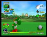 Mario Golf Nintendo 64 This is versus Yoshi - if you beat him, he becomes a selectable character