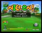 Mario Golf Nintendo 64 The game praises you for getting on the green quickly