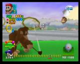 Mario Golf Nintendo 64 DK playing Ring Shot - it's tough because you have to hit the ball all over the place!