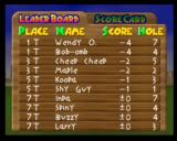 Mario Golf Nintendo 64 Tournament results - there are some familiar names here!