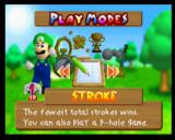 Mario Golf Nintendo 64 Different play modes, such as stroke, tournament, ring shot, mini-golf and more