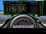 World Circuit Amiga Qualifying Position Screen
