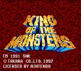 King of the Monsters SNES Title screen.