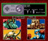 "King of the Monsters SNES ""How To Play"" screen / Character selection."