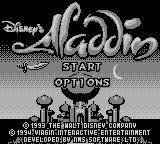 Disney's Aladdin Game Boy Title Screen