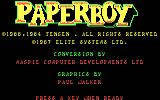 Paperboy DOS title screen - CGA