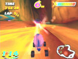 Speed Punks PlayStation The homing rocket has a red trail