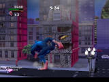 Rampage: Total Destruction PlayStation 2 Preparing to boot an oncoming skater