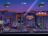 Rampage: Total Destruction PlayStation 2 In two player mode, the camera zooms out when players separate