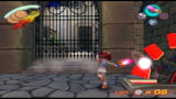 Ape Escape 3 PlayStation 2 Repeatedly whack this red cog to raise the portcullis