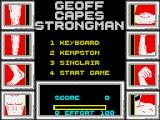Geoff Capes Strongman ZX Spectrum Main menu
