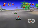 Mickey's Speedway USA  Nintendo 64 Los Angeles is a very short eight-shaped track