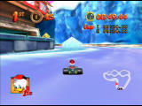 Mickey's Speedway USA  Nintendo 64 You can shave some time off if you drive between the ice and the wall!