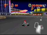 Mickey's Speedway USA  Nintendo 64 Vegas is chock full of neon lights - and very sharp turns!