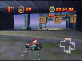 Mickey's Speedway USA  Nintendo 64 These crates drop randomly, blocking your path
