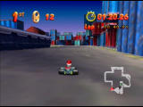 Mickey's Speedway USA  Nintendo 64 There are steel pillars to watch out for on the edges here