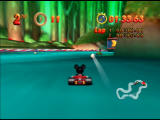 Mickey's Speedway USA  Nintendo 64 A Baseball Chucker has been thrown - these bounce off walls