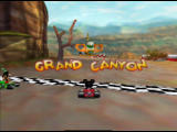 Mickey's Speedway USA  Nintendo 64 Before the race starts, the name of the location is displayed