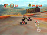 Mickey's Speedway USA  Nintendo 64 The Grand Canyon is full of rocky bumps