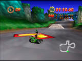 Mickey's Speedway USA  Nintendo 64 These turbos launch you across at high speed