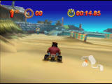 Mickey's Speedway USA  Nintendo 64 Pete goes for a practice run on the beach